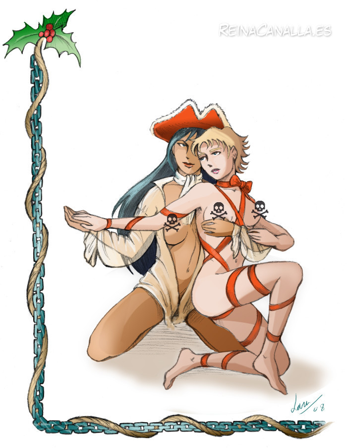 Anne-Marie. A shameless erotic pirate comic. Reina Canalla. Merry Christmas. Censored.