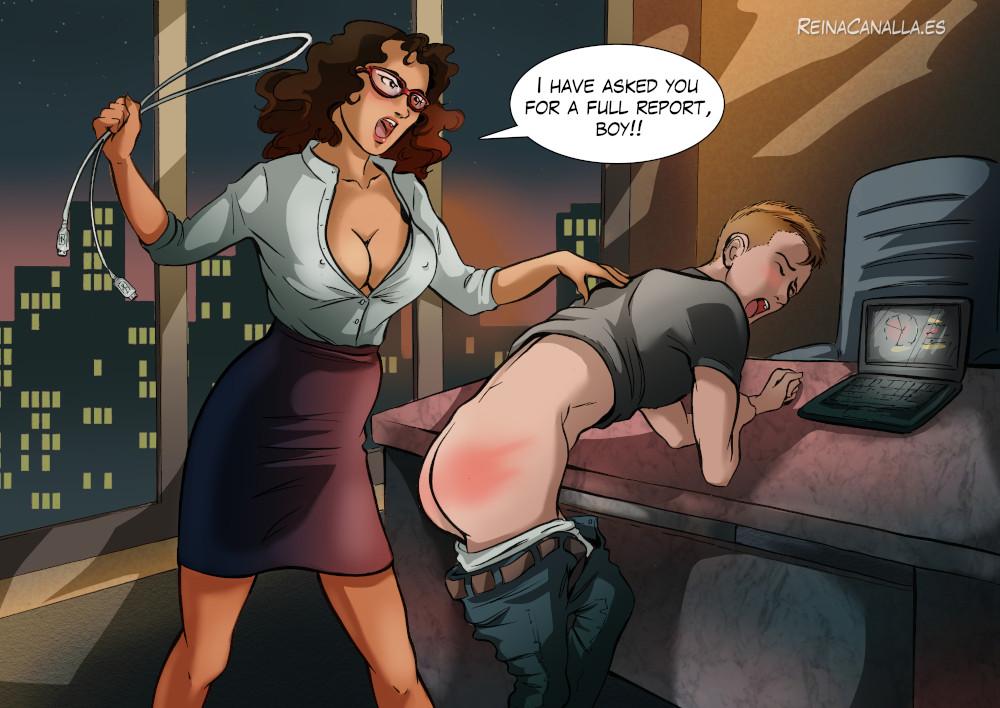 Commission fantasy of spanking